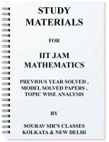 Iit Jam Mathematics Complete Study Materials With Solved Model Papers + Previous Year Solution+mock Test Notes best price on Flipkart @ Rs. 2499