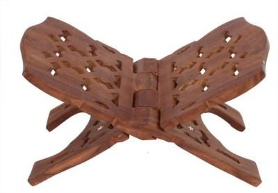 Craftatoz Wooden Brown Rehal(Width (Open) = 22 cm - Height (Open) = 20 cm)