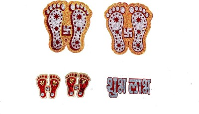 Holy Krishna Lakshmi Religious Footprint(PVC, Cotton)