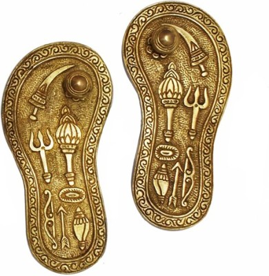 Radhika's World of Crafts Durga Religious Footprint(Brass)