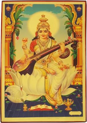 Gold Art 4 U Sarswati Religious Frame