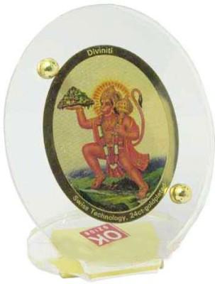 Sitare Lord Hanuman 24 ct Gold Foil Photo Diviniti Religious Frame