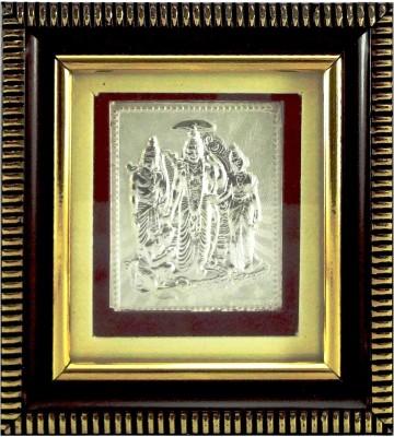 UNITREES 999 Pure Silver God Ram Darbar with Plastic Religious Frame Religious Frame