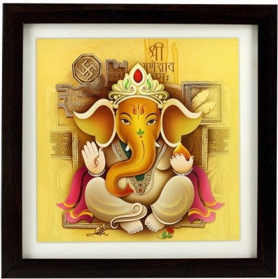 Indianara Lord Ganesha (bal roop) Religious Frame