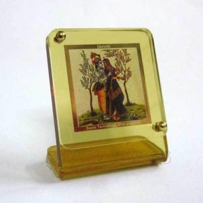 Sitare Radha Krishna Photo 24 ct. Gold Foil Religious Frame
