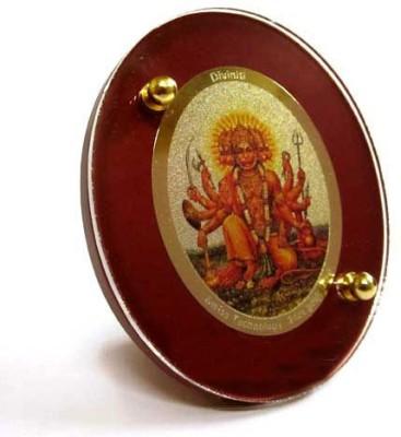 Sitare Panchmukhi Hanuman Diviniti 24 ct Gold Foil Photo Religious Frame