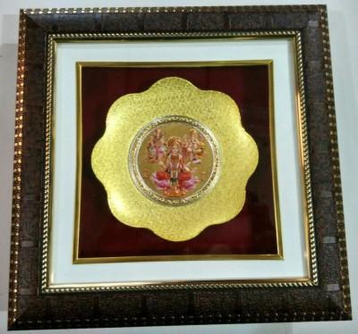 Artfelt Laxmi Ganesh Saraswati Religious Frame