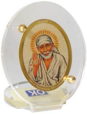Sitare Sai Baba 24 ct. Gold Foil Diviniti Religious Frame