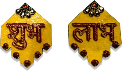 Shivie Subh Labh Yellow Religious Tile