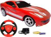 Flipzon JackMean RC Super Simulation Racing Rechargeable Car With Steering(Red)