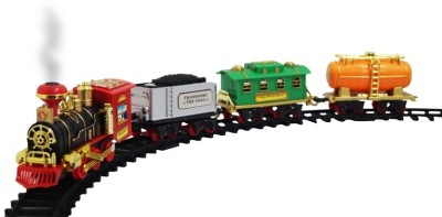Zeemon Smoke Sound Light Music Battery Operated Train Track Set Toy