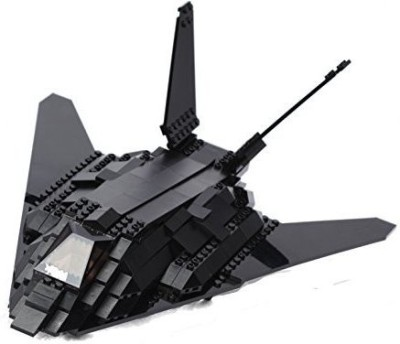 Ultimate Soldier Stealth Fighter Jet Military Building Kit, Black