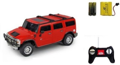 Sunflower Products Hummer H2 Suv Recharable Remote Control Kids Car Scale 1.24-Red