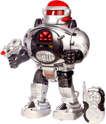 Classic Robot Control Toy(Pure Grey)