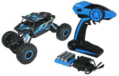 WebKreature Radio Control 4WD Rally Rock Crawler Monster Truck - Blue