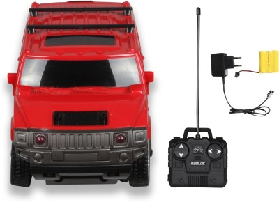 Building Mart Sporty 1:24 Rechargeable 4CH RC Hummer Car with Headlight(Red)