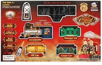 maxplanet Classical Battery Operated Radio Control Smoke Train set (21 Pcs)(Multicolor)