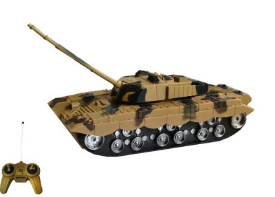 Taaza Garam Kids Imported High Quality RC War Remote Control Tank Brown- Gift Toy