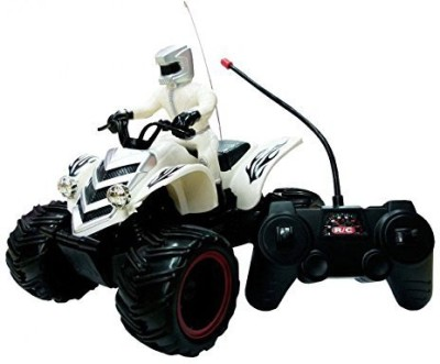 WebKreature Radio Control Off-Road Race ATV Motorcycle - White / Blue / Yellow / Red