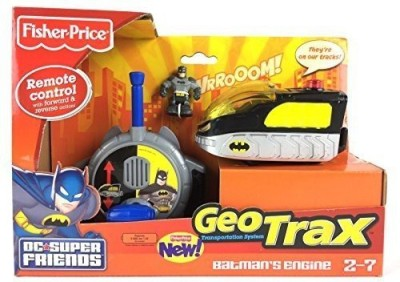Fisher-Price Geotrax Dc Super Friends Turbo Control Vehicle Batman,S