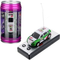 Toys Bhoomi Brand New 4CH High Speed Racing Coke Can Mini RC Car with Road Safety Cones - Random Colours(Multicolor)