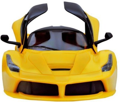 Baby First Ferrari Door Opening car with remote control(YELLOW)
