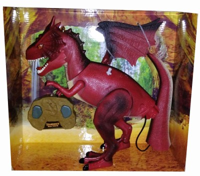Shop & Shoppee Remote Control Dinosaur With Flashing Light, DINO Sound,Head Swing & Walking Feature