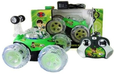 Kotak Sales Ben 10 Stunt Car High Quality Remote Control Dancing Racing Led