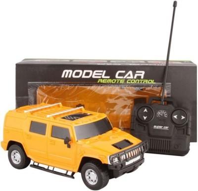Rey Hawk R/C Super Smart Hummer Car With Remote Control 1.24(Yellow)