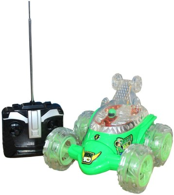 zaprap Ben10 Rechargeable Remote Control Stunt Car For Kids