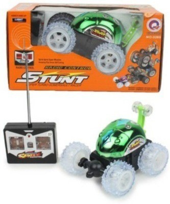 Reyhawk Super Turbo Radio Control Racing Stunt Battery operated Car(Green)