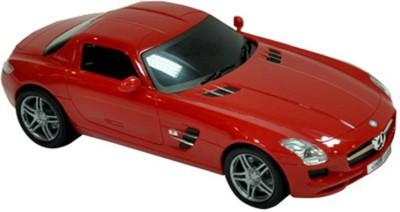 Majorette Rc Mercedes Sls Amg, 1:24 -silver, Red