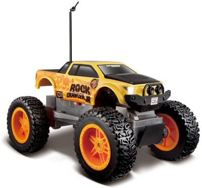 Maisto Remote Control Rock Crawler Junior Metallic - Blue