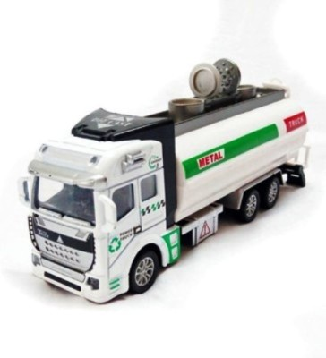 Turban Toys Battery Operated Die-Cast Pull Back Metal Oil Truck