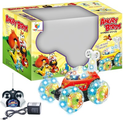 Toys Bhoomi Angry Birds R/C Stunt Car With LED Light & Sound - 360 Degree Rotating Turbo Somersault Tornado Twister