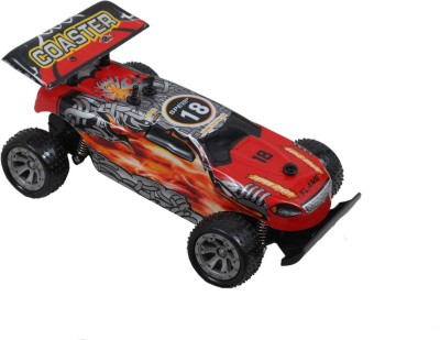 Brunte 1:18 Red crawling car with rechargeable battery and round remote