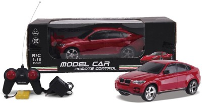Brunte 1:18 Dark Red remote car with rechargeable battery(Red)