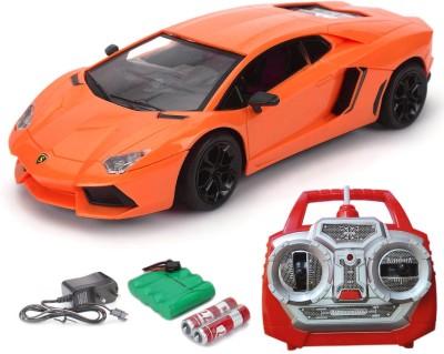 Flipzon Lamborghini Rc Rechargeable Toy 1:18 (Orange)