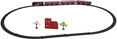 Venus-Planet of Toys Locomotive Rail King Train Set With Front LED Light For 4-6 Years