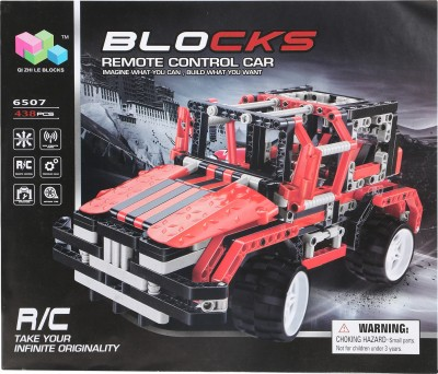Buds N Blossoms Blocks Remote Control Car(Multicolor)