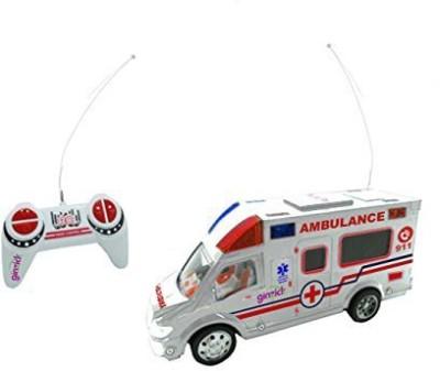 Ginzick Rc Remote Control Rescue Ambulance Truck w/ lights & Siren