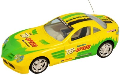 zaprap Yellow Plastic Remote Control First Leader Racing Covered Car