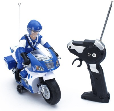 Sunflower Products Police Remote Control Stunt bike 360 Degree