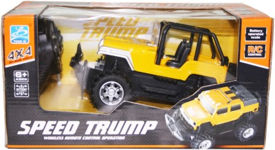 VENUS-PLANET OF TOYS RC CROSS COUNTRY SPEED TRUMP JEEP W/CHARGER BATTERY