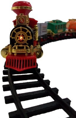 Wish Kart Kids Toy Train Emits Real Smoke Light Sound Track Set Battery Operated Choochoo Classical(Multicolor)