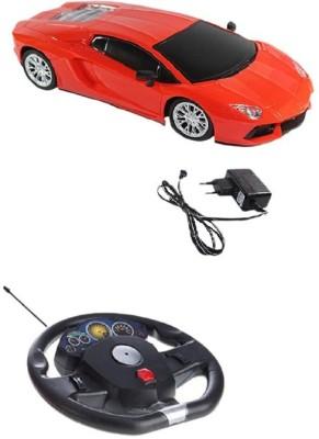 A R ENTERPRISES Orange Rechargeable Steering Car