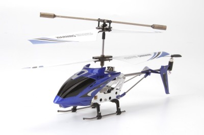 Toyhouse Metal Helicopter 3 Channel Infrared Remote Control with Gyroscope n LED Lights for Indoor