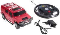 Zest 4 Toyz Gravity sensing Steering scale 1:16 Hummer like die cast car with Rechargeable batteries & Charger Included(Red)