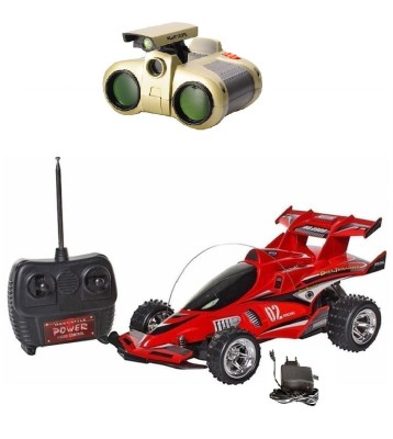 New Pinch Full Remote Control chargeable x-gallop Car with binocular