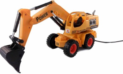 Sani International Wired Remote Control Battery Operated Multicolor JCB Crane Truck Toy(Multicolor)